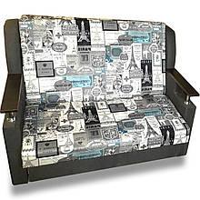 Диван Березня 110см (Принт сірий).Дитячий диван з нішею для білизни