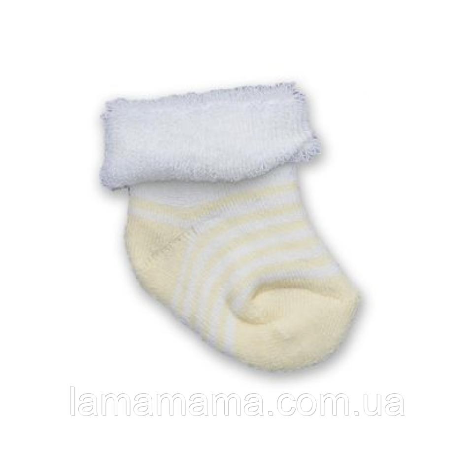 Махровые носочки для самых маленьких Полосатик желтый Betis Бетис р. 10-12