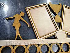 Медальница с рамками под фото и фигурками танцоров, фото 3