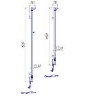 Полотенцесушитель электрический Mario Рэй Кубо-I 1500x30 + таймер-регулятор, фото 4
