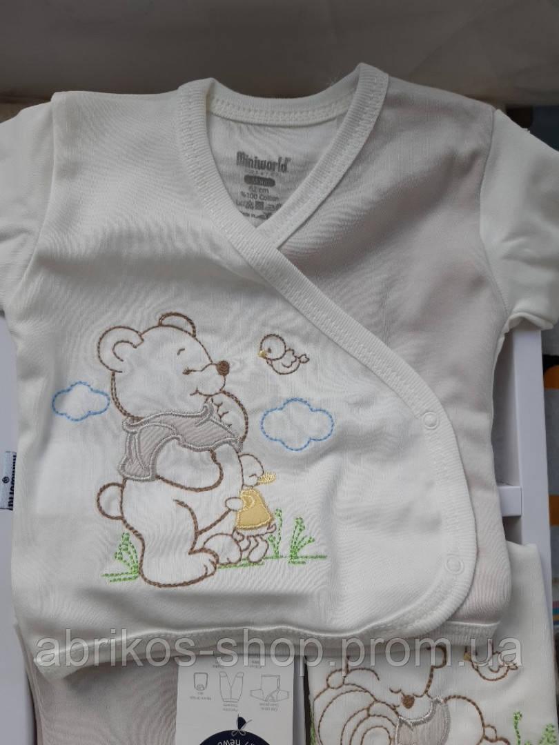 Подарочный набор на выписку для новорожденного  мальчика  Винни- Пух