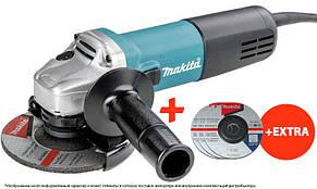 Угловая шлифовальная машина Makita 9558HNG + 3 шлифкруга 125х6 Makita