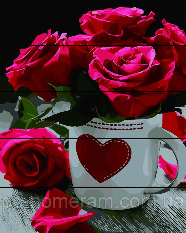 картина по номерам на дереве розы купить