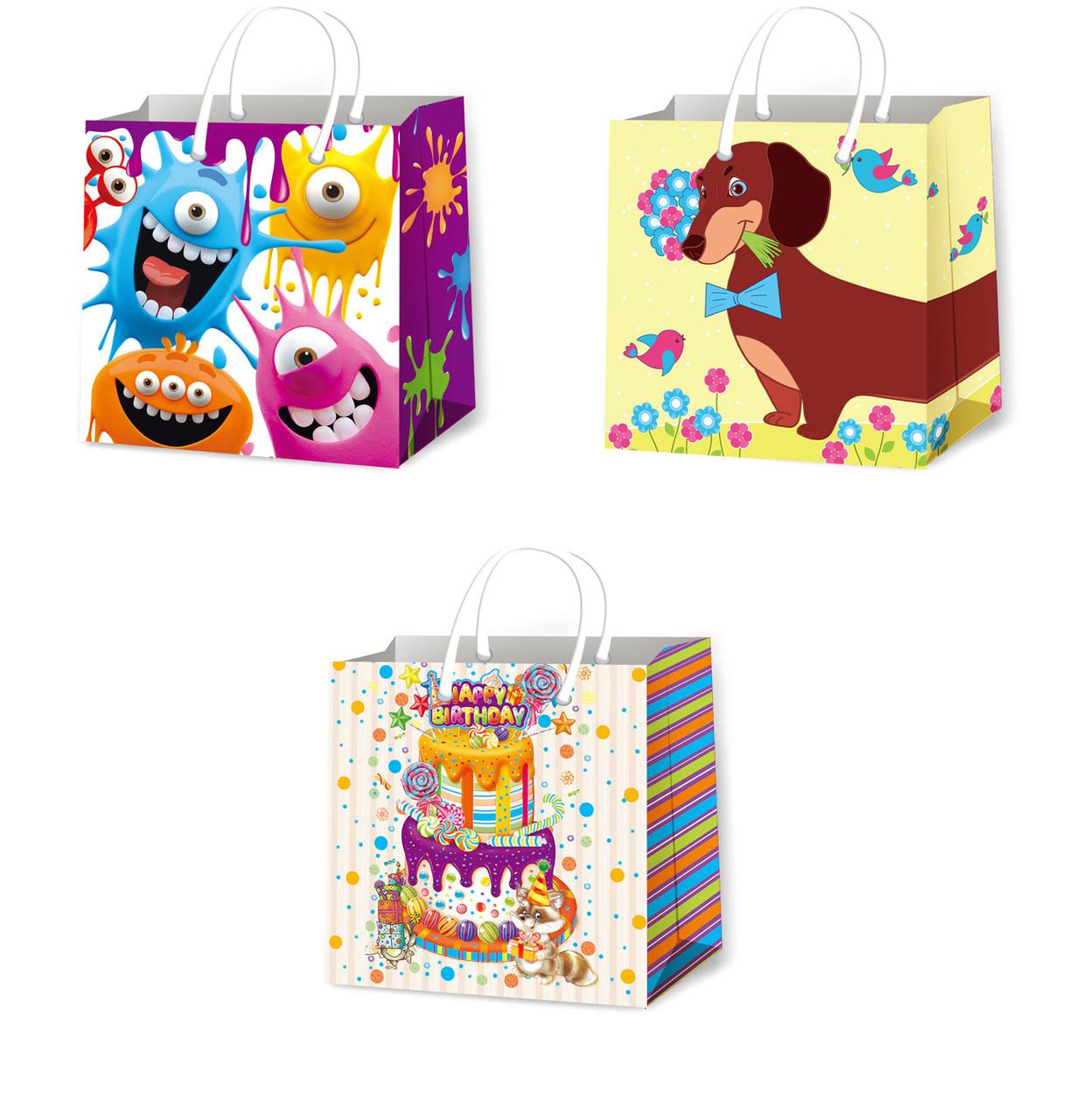 Подарочные пакеты детские размер 16 х 16 см (12 шт/уп ...