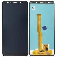 Дисплей для Samsung A750/A7-2018 с тачскрином черный Оригинал