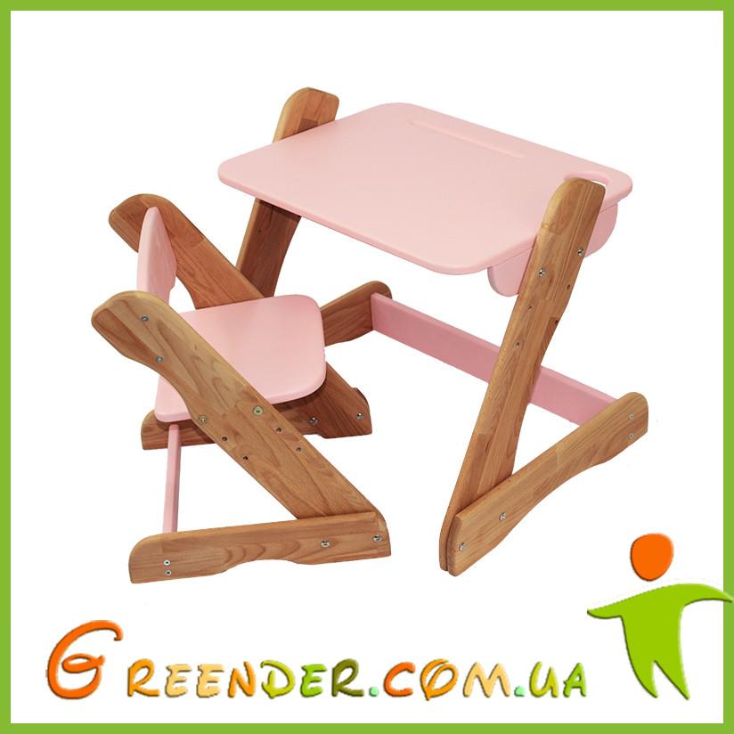 Детский столик и стульчик розовый от производителя! (с регулировкой)