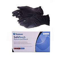 Рукавички нітрилові чорні (М)