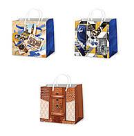 Подарочные пакеты для мужчин размер 16 х 16 см (12 шт/уп)