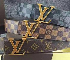 Кожаный ремень известного бренда Louis Vuitton (Луи Виттон)
