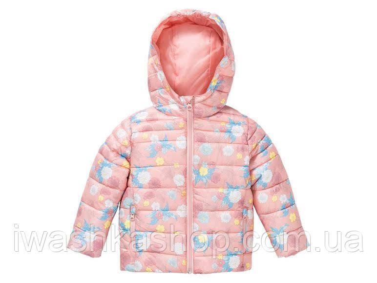 Яркая демисезонная непромокаемая термо куртка на девочек 2 - 3 лет, р. 98, Lupilu