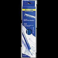 Набор чертёжных карандашей Buromax Professional 12 шт