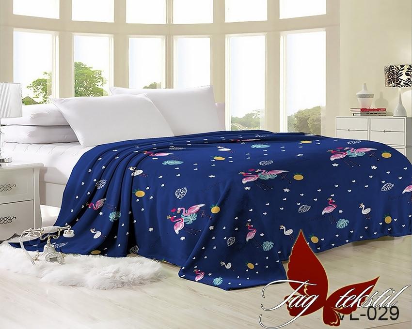 Плед покрывало 160х220 велсофт Пеликан на кровать, диван