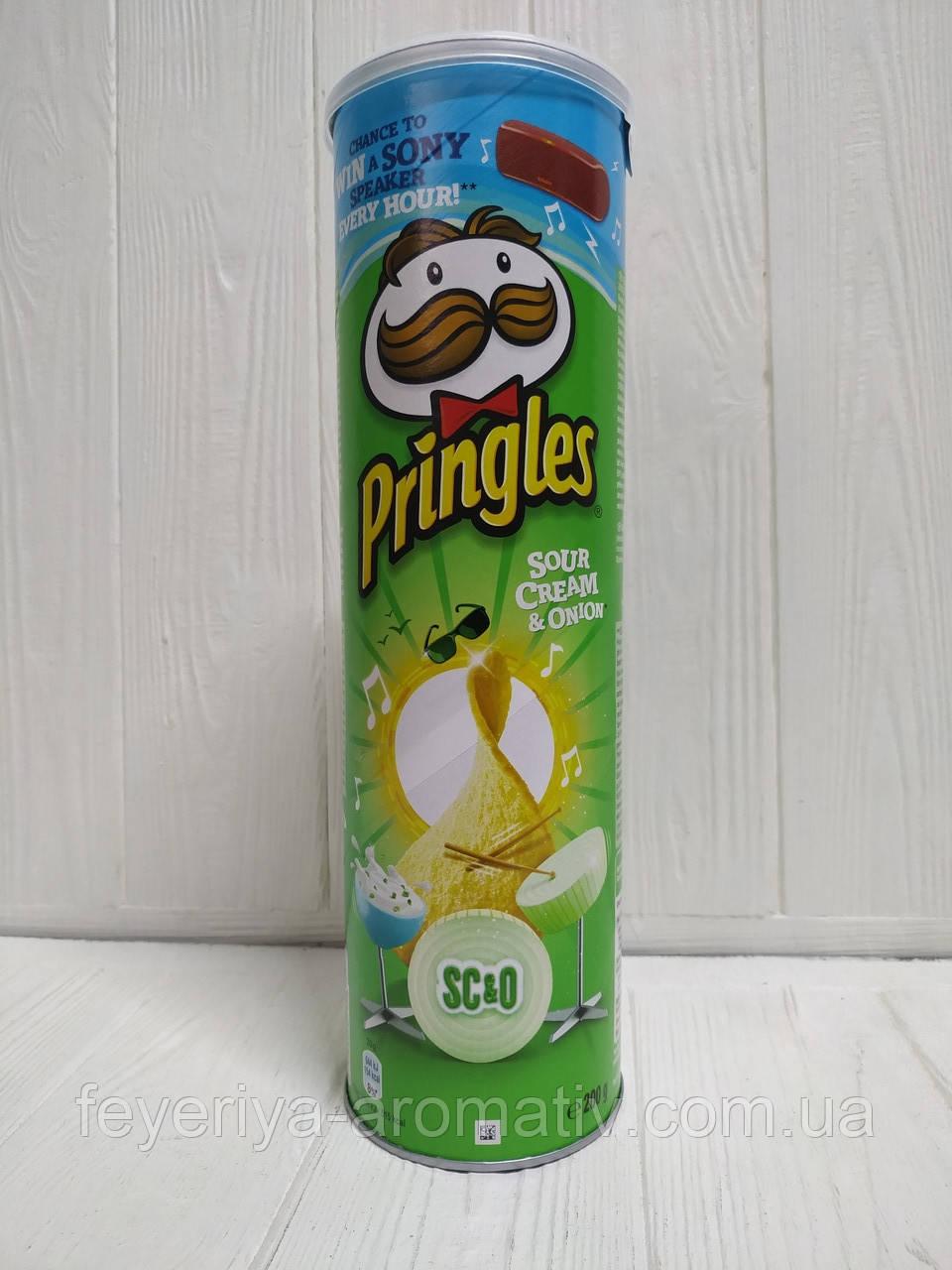 Чипсы Pringles Sour Cream&Onion, 200гр (Великобритания)