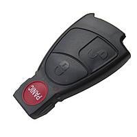 Корпус смарт ключа Mercedes рыбка 2+1 panic кнопки, фото 1