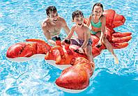 57533 Лобстер 213*137см, Надувная игрушка наездник, Надувной плотик плавательный, Надувной плот