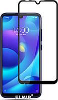 Защитное стекло для Xiaomi Mi Play Ксиоми Сяоми клеится по всей поверхности черное 2.5D Full Glue