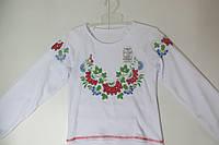 Блузка- вышиванка с длинным рукавом для девочки