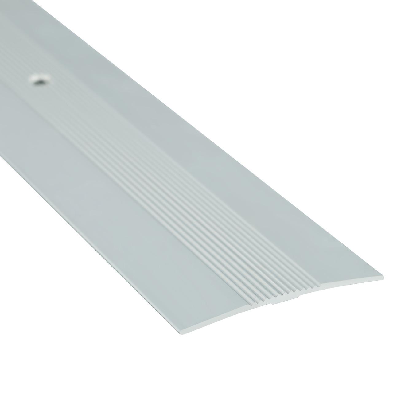 Алюминиевый профиль одноуровневый рифленый анодированный 50мм х 0.9 м серебро
