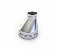 Переход односторонний вентиляционный d 125/150 круглый оцинкованный