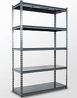 191х110х45, 5 металлических полок 250 кг на полку Стеллаж Unirade крашеный полочный для дома в офис склад