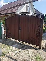 Ворота металлические с ковкой, фото 1