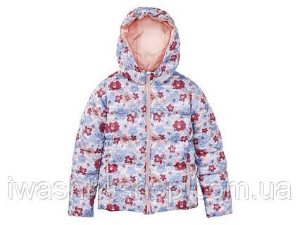 Яркая демисезонная непромокаемая термо куртка на девочек 8 - 9 лет, р. 134, Pepperts!