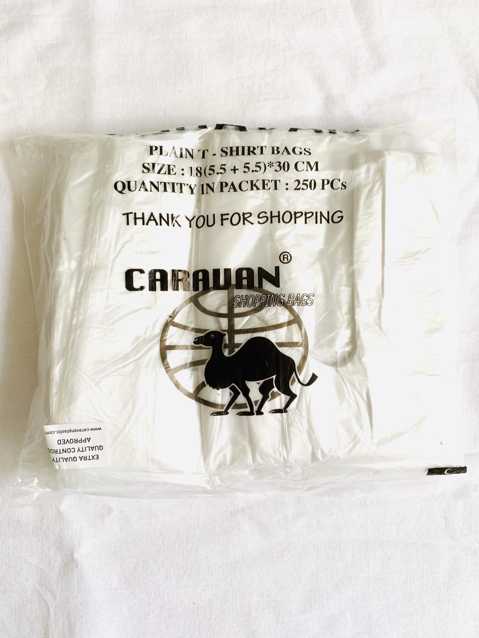 Пакет полиэтиленовый майка №0 усиленная Caravan 180*300мм 250шт