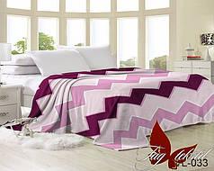 Плед покрывало 160х220 велсофт Зигзаг розовый на кровать, диван