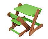 Детский столик и стульчик зеленый от производителя! (с регулировкой), фото 3