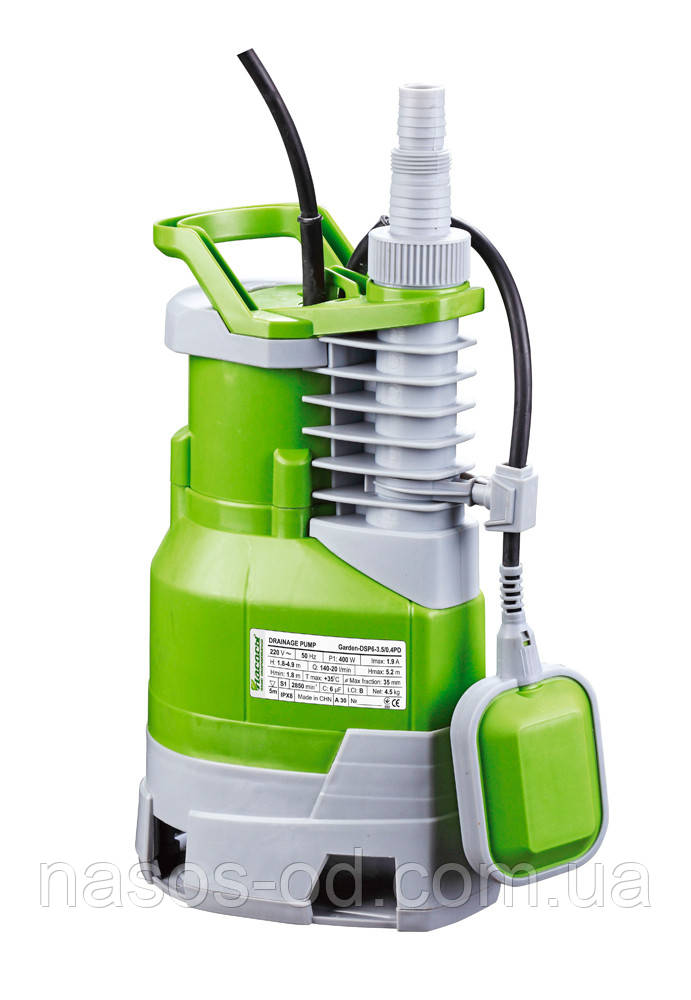 Дренажный насос Насосы+Оборудование Garden-DSP 6-3.5/0.4PD садовый 0.4кВт Hmax5.2м Qmax180л/мин