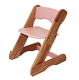 Детский стульчик розовый от производителя! (с регулировкой), фото 3