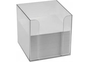 Бокс для бумаги Economix 90х90х90 мм, прозрачный