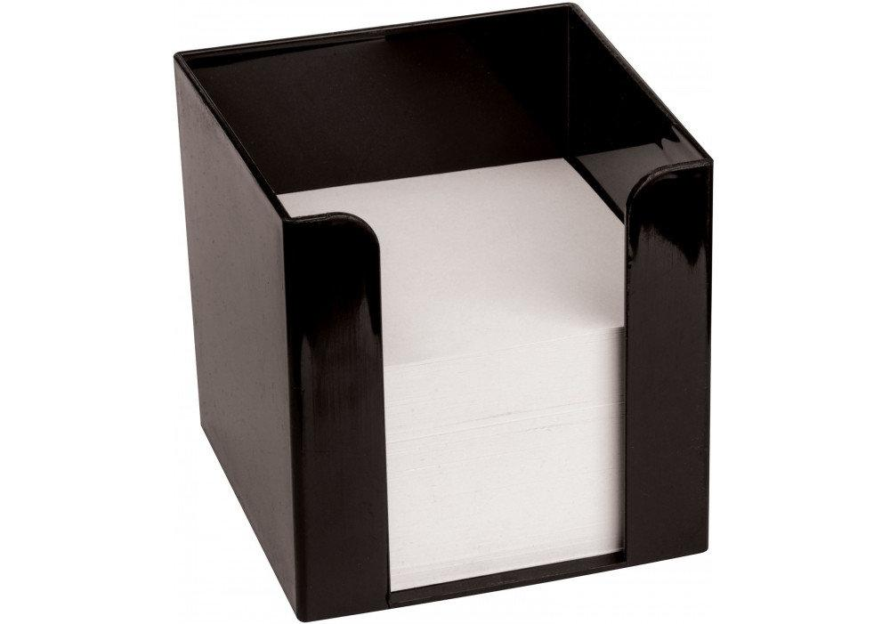 Бокс для бумаги Economix 90х90х90 мм, черный