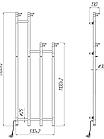 Рушникосушка електрична Mario Ray Family-I 150x51 🇺🇦, фото 3