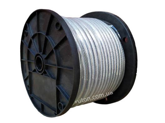Трос оцинкованный металлополимерный  3/4 мм - 100 м - 6х12, фото 2