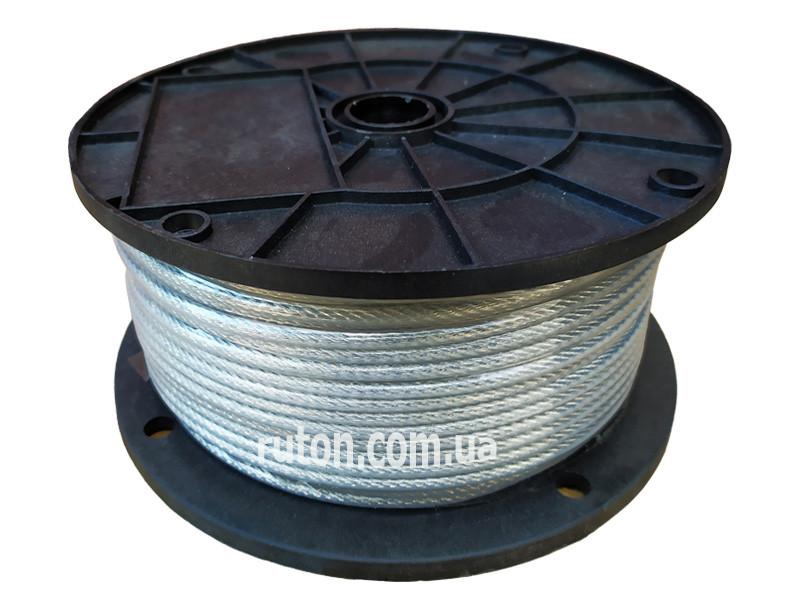 Трос оцинкованный металлополимерный  3/4 мм - 100 м - 6х12