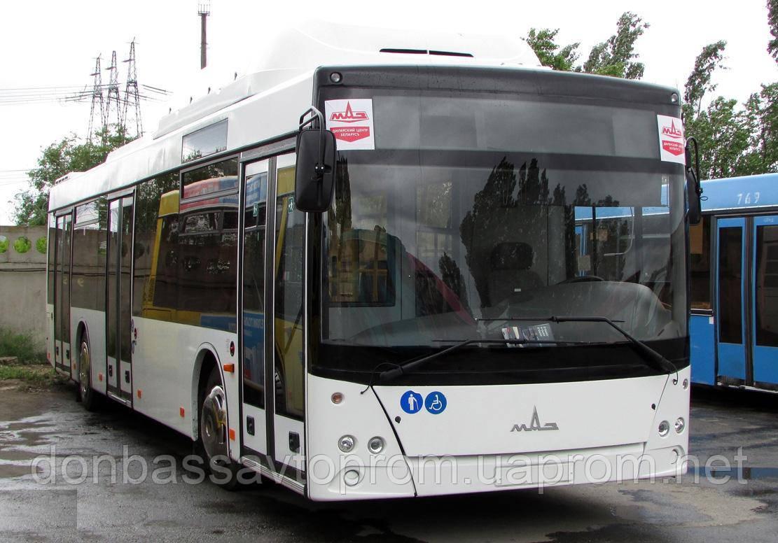 Новый городской автобус МАЗ 203 965 с газовым двигателем