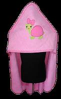 Полотенце с капюшоном махра 85*85 розовый, 500г/м2 ( TM Zeron), Турция
