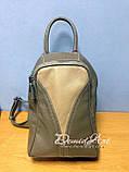 Вместительный кожаный рюкзак., фото 8