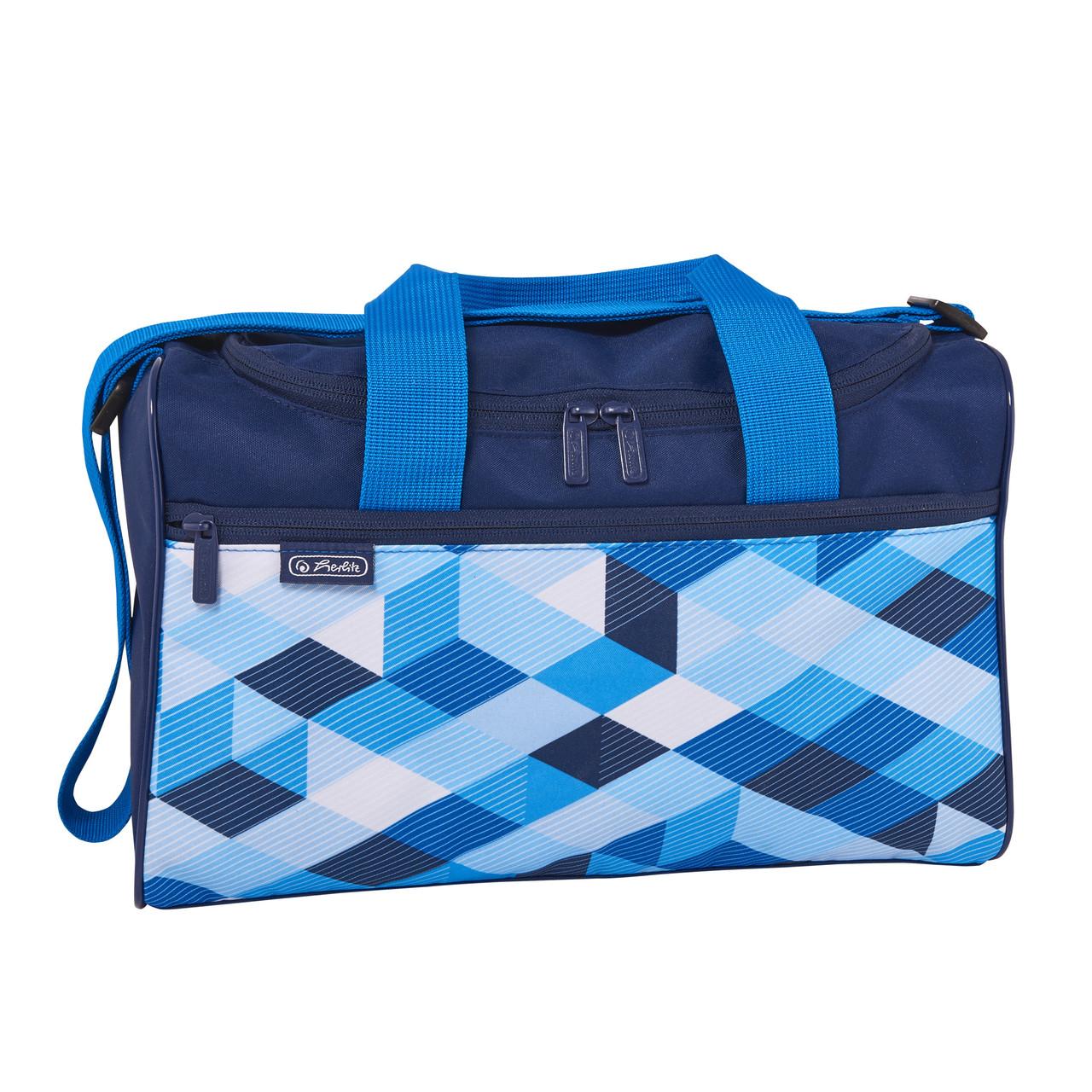 Сумка спортивная Herlitz Sportbag XL Cubes Blue Кубики голубые (50021918)