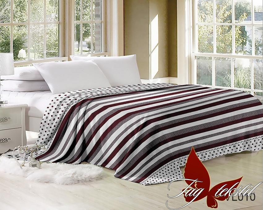 Плед покрывало 160х220 велсофт Полоска на кровать, диван