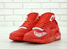 Мужские кроссовки Nike Air Huarache Off White Red , фото 3