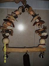 Дерев'яні гойдалки для великого папугу ЖАКО, АРА, КАКАДУ.