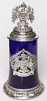 50002672 Кружка пивная Wutschka & Герб Германии&  синяя, 0,5л  # (50002672)