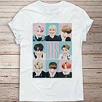 Футболка с принтом группы BTS (БТС)