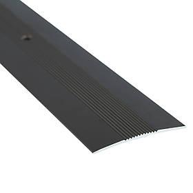 Алюминиевый профиль одноуровневый рифленый анодированный 50мм х 2.7 м бронза