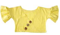 Топ для дівчинки льняний, жовтий