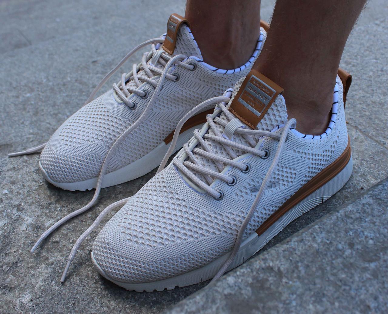 Оригинальные мужские светлые кроссовки Gant Nubo 2С 18638360