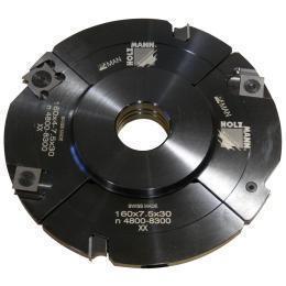 Головка пазорезная регулируемая с промежуточными кольцами Holzmann VN160(4-15)