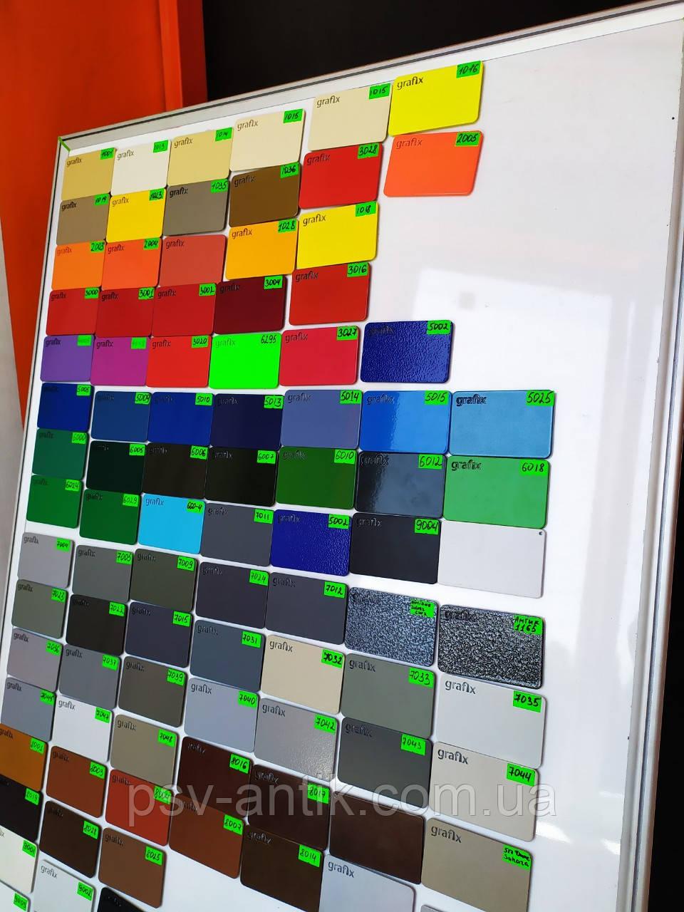 Порошковая краска глянцевая, полиэфирная, архитектурная, 6035